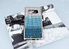 Samsung Galaxy Note 8 Taşlı Geçişli Mavi Silikon Kılıf - Resim 1
