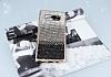 Samsung Galaxy Note 8 Taşlı Geçişli Siyah Silikon Kılıf - Resim 1