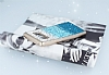 Samsung Galaxy Note 8 Taşlı Geçişli Mavi Silikon Kılıf - Resim 2