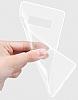 Samsung Galaxy Note 8 Ultra İnce Şeffaf Siyah Silikon Kılıf - Resim 1