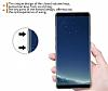 Samsung Galaxy Note 8 Ultra İnce Şeffaf Pembe Silikon Kılıf - Resim 2