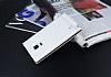 Samsung Galaxy Note Edge Gizli Mıknatıslı Yan Kapaklı Beyaz Deri Kılıf - Resim 2