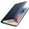 Samsung Galaxy On7 Cüzdanlı Yan Kapaklı Lacivert Deri Kılıf - Resim 2