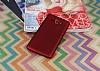 Samsung Galaxy On7 Mat Kırmızı Silikon Kılıf - Resim 1