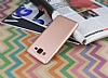 Samsung Galaxy On7 Mat Rose Gold Silikon Kılıf - Resim 2
