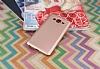 Samsung Galaxy On7 Mat Rose Gold Silikon Kılıf - Resim 1