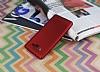 Samsung Galaxy On7 Mat Kırmızı Silikon Kılıf - Resim 2