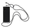 Samsung Galaxy S20 Çizgili Askılı Şeffaf Silikon Kılıf