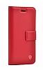 Kar Deluxe Samsung Galaxy S20 Kapaklı Cüzdanlı Kırmızı Deri Kılıf