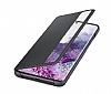 Eiroo Samsung Galaxy S20 Clear View Uyku Modlu Siyah Kılıf - Resim 3