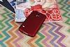 Samsung Galaxy S5 Mat Kırmızı Silikon Kılıf - Resim 1