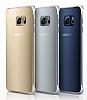 Samsung Galaxy S6 Edge Plus Orjinal Metalik Dark Blue Kenarlı Kristal Kılıf - Resim 1
