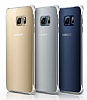 Samsung Galaxy S6 Edge Plus Orjinal Metalik Silver Kenarlı Kristal Kılıf - Resim 1