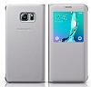 Samsung Galaxy S6 Edge Plus Orjinal Pencereli View Cover Beyaz Kılıf - Resim 1