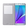 Samsung Galaxy S6 Edge Plus Orjinal Pencereli View Cover Beyaz Kılıf - Resim 2