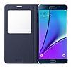 Samsung Galaxy S6 Edge Plus Orjinal Pencereli View Cover Lacivert Kılıf - Resim 3