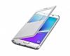 Samsung Galaxy S6 Edge Plus Orjinal Pencereli View Cover Beyaz Kılıf - Resim 4