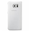 Samsung Galaxy S6 Edge Plus Orjinal Pencereli View Cover Beyaz Kılıf - Resim 3