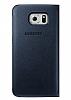 Samsung Galaxy S6 Edge Plus Orjinal Pencereli View Cover Lacivert Kılıf - Resim 2