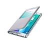 Samsung Galaxy S6 Edge Plus Orjinal Pencereli View Cover Silver Kılıf - Resim 2