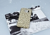 Samsung Galaxy S6 Edge Simli Kumaş Gold Silikon Kılıf - Resim 1