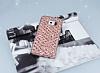 Samsung Galaxy S6 Edge Simli Kumaş Rose Gold Silikon Kılıf - Resim 1