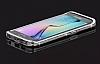 Samsung Galaxy S6 Edge Taşlı Bumper Çerçeve Silver Kılıf - Resim 5