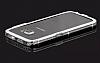 Samsung Galaxy S6 Edge Taşlı Bumper Çerçeve Silver Kılıf - Resim 4