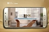 Samsung Galaxy S6 Edge Taşlı Bumper Çerçeve Gold Kılıf - Resim 3