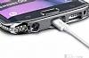 Samsung Galaxy S6 Edge Taşlı Bumper Çerçeve Silver Kılıf - Resim 1