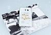 Samsung Galaxy S6 Edge Taşlı Baykuş Şeffaf Silikon Kılıf - Resim 2