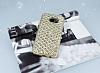 Samsung Galaxy S7 Edge Simli Kumaş Gold Silikon Kılıf - Resim 1