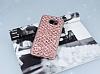 Samsung Galaxy S7 Edge Simli Kumaş Rose Gold Silikon Kılıf - Resim 1