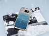 Samsung Galaxy S7 Edge Taşlı Geçişli Mavi Silikon Kılıf - Resim 2