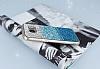 Samsung Galaxy S7 Edge Taşlı Geçişli Mavi Silikon Kılıf - Resim 1