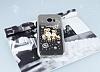 Samsung Galaxy S7 Edge Taşlı Baykuş Şeffaf Silikon Kılıf - Resim 2
