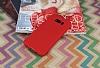 Samsung Galaxy S8 360 Derece Koruma Likit Kırmızı Silikon Kılıf - Resim 1