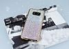 Samsung Galaxy S8 Plus Pembe Kenarlı Simli Pembe Silikon Kılıf - Resim 1