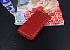 Samsung Galaxy S8 Cüzdanlı Yan Kapaklı Kırmızı Deri Kılıf - Resim 1