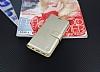 Samsung Galaxy S8 Cüzdanlı Yan Kapaklı Gold Deri Kılıf - Resim 1