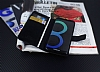 Samsung Galaxy S8 Cüzdanlı Yan Kapaklı Siyah Deri Kılıf - Resim 4