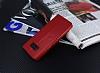 Samsung Galaxy S8 Cüzdanlı Yan Kapaklı Kırmızı Deri Kılıf - Resim 2