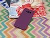Samsung Galaxy S8 Deri Desenli Ultra İnce Mor Silikon Kılıf - Resim 1