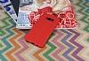 Samsung Galaxy S8 Deri Desenli Ultra İnce Kırmızı Silikon Kılıf - Resim 1