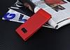 Samsung Galaxy S8 Gizli Mıknatıslı Yan Kapaklı Kırmızı Deri Kılıf - Resim 2