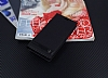 Samsung Galaxy S8 Gizli Mıknatıslı Yan Kapaklı Siyah Deri Kılıf - Resim 1