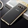 Samsung Galaxy S8 Gold Kenarlı Şeffaf Silikon Kılıf - Resim 6