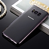 Samsung Galaxy S8 Siyah Kenarlı Şeffaf Silikon Kılıf - Resim 6