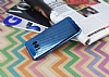 Samsung Galaxy S8 Noktalı Metalik Mavi Silikon Kılıf - Resim 1