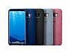 Samsung Galaxy S8 Orjinal Alcantara Süet Siyah Kılıf - Resim 3